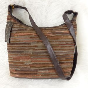 Vintage Dead Stock Brown Suede Patchwork Hobo Bag